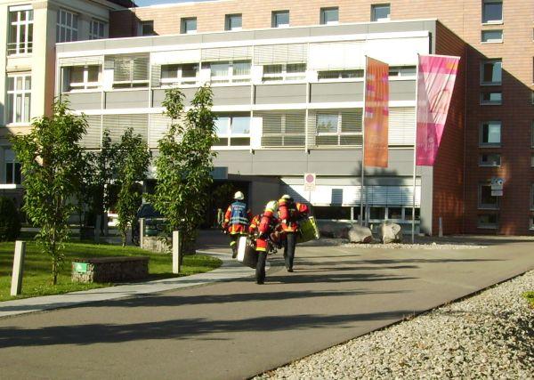 Einsatzuebung Krankenhaus Rastatt am 23. Juli 2012
